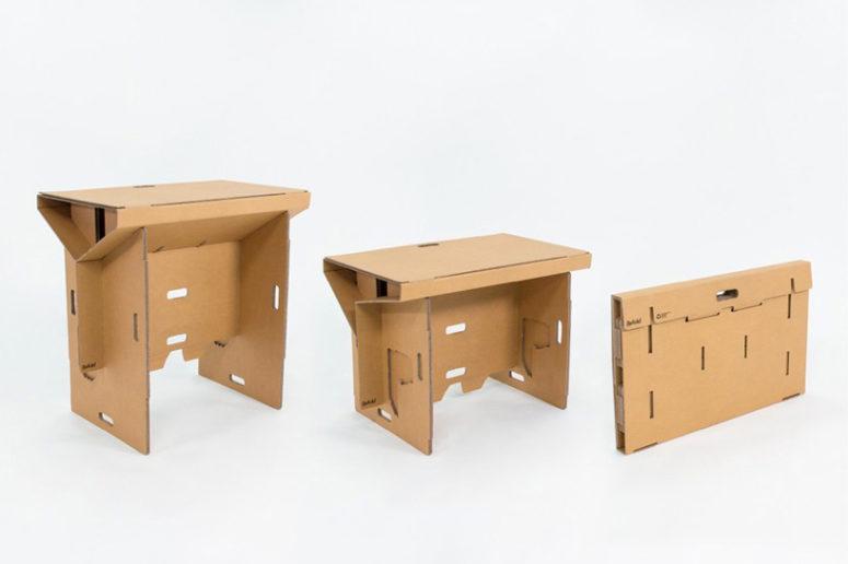 Refold desk by Fraser Callaway, Oliver Ward, and Matt Innes (via www.designboom.com)