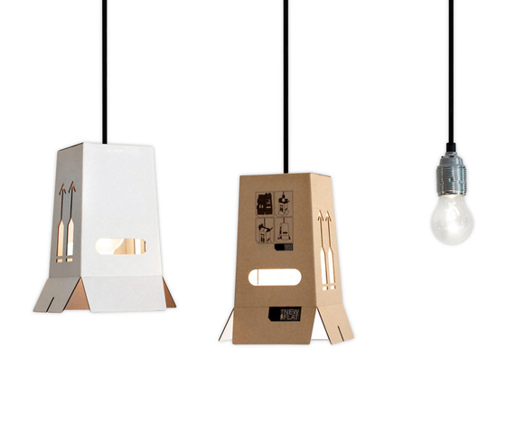 hanging out stylish cardboard goes electric cartonado flatpack lamps fold lamp