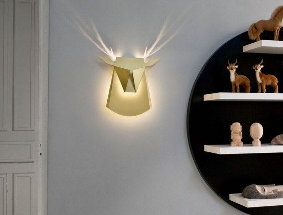 Popup Reindeer lighting by Chen Bikovski (via www.digsdigs.com)