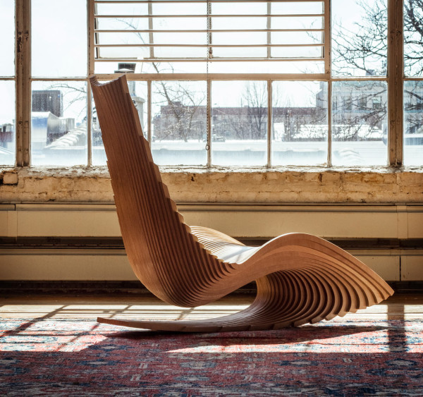 Diwani rocker by Ahmed ElHusseiny (via design-milk.com)