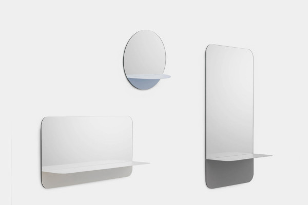 Horizon mirrors with shelves (via design-milk.com)