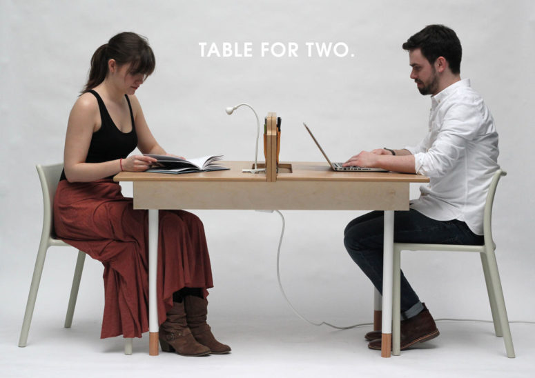 Table for Two by Daniel Liss (via design-milk.com)