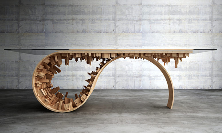 Wave City table by Stelios Mousarris (via www.designboom.com)