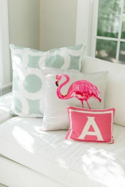 make a flamingo pillow yourself if you feel crafty