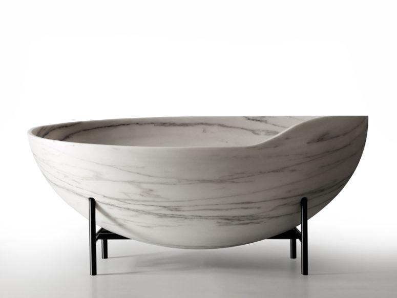 Kora tub by Kreoo (via www.designboom.com)