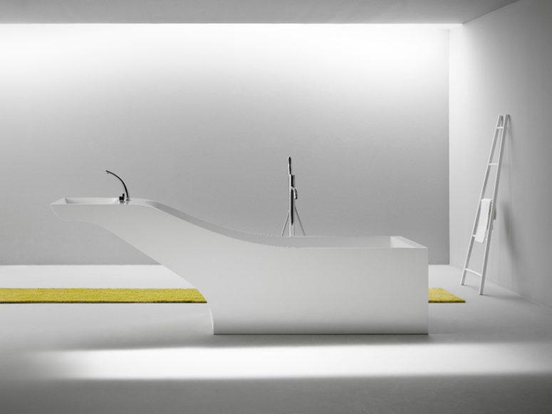 Symbyosis tub and sink unit by Desnahemisfera  (via www.designboom.com)