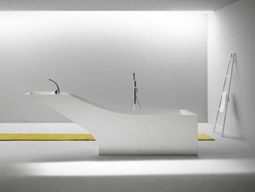 Symbyosis tub and sink unit by Desnahemisfera