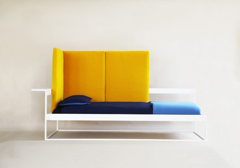 Nook Is A Modern Multi Functional Furniture Piece That Doubles As A Sofa  And A Bed