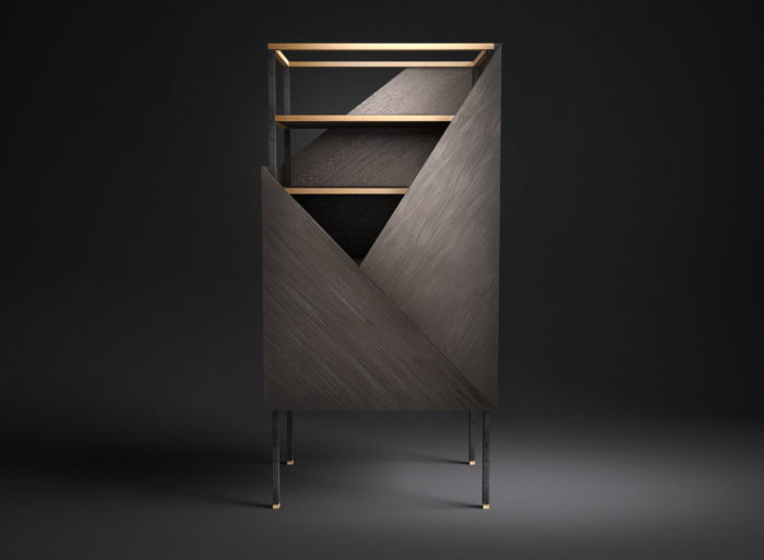 Tuxedo is a luxurious storage piece that is amazing not only because of its unique design but also due to its functionality   it's a cabinet and desk in one