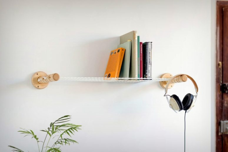 Such a construction allows not only to hold objects but also to hang them if you need