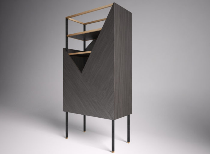 The creative design of the cabinet allows to hide what you don't want to use and show off the most precious items