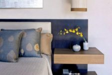 floating shelves as a nightstand