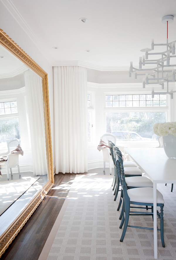 White color as the main one makes interiors airy, light-filled and spacious