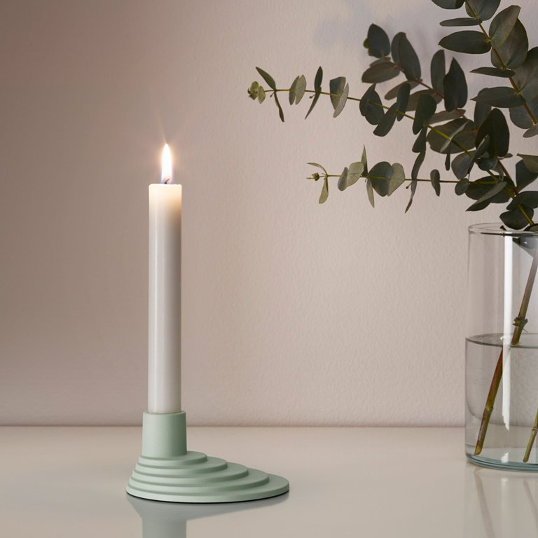 There are also little accessories like candle holders but in the colors that aren't typical for IKEA