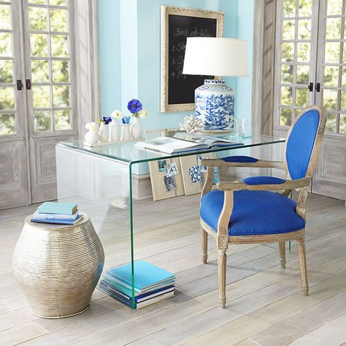 29 Edgy Glass Desks For Modern Home Offices DigsDigs