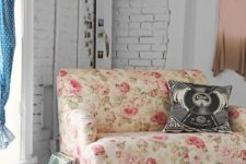 05 if you want to give your space a girlish feel, there's nothing better than a pink floral print loveseat