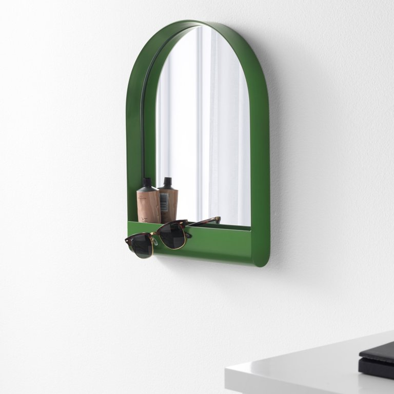 A comfy IKEA mirror with a storage pocket