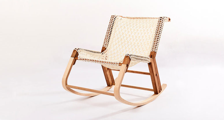 The chair from the colleciton looks boho and rustic like no other
