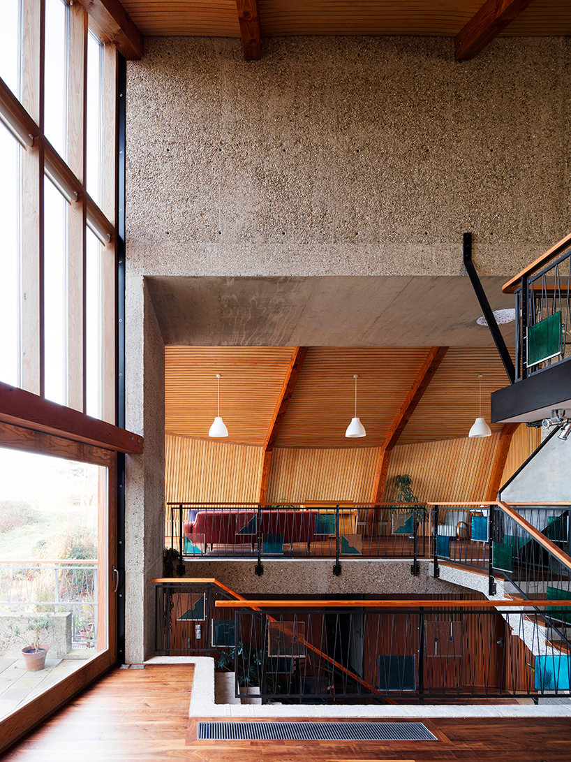The house overlooks a harbor, so windows offer amazing views to the owners