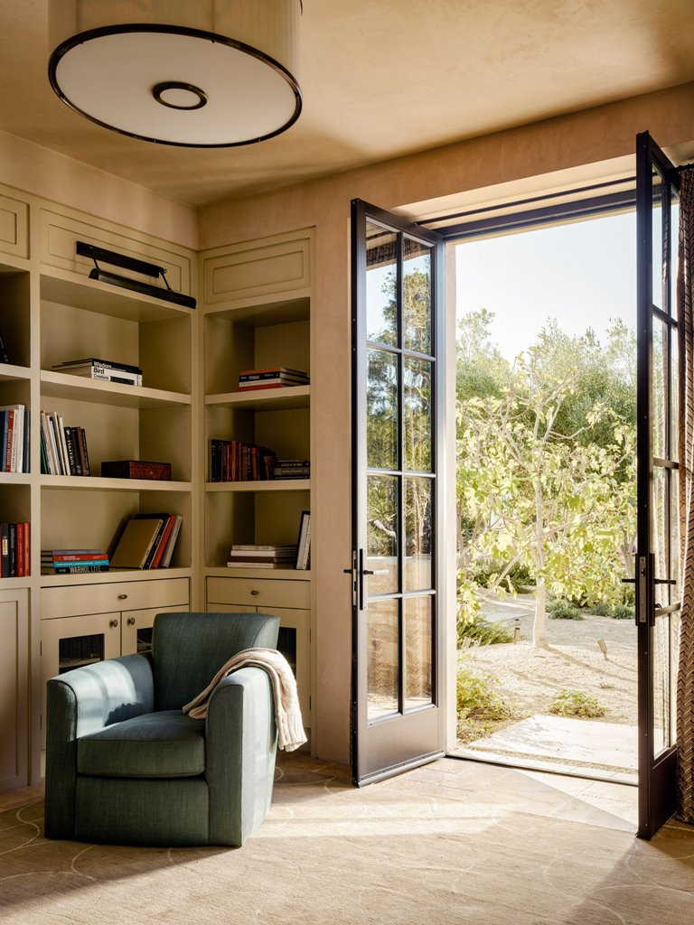 The interiors are spruced up with chic and luxurious details, and it's very tightly connected to outdoors
