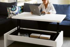 06 a coffee table becomes a desk – no need for a home office