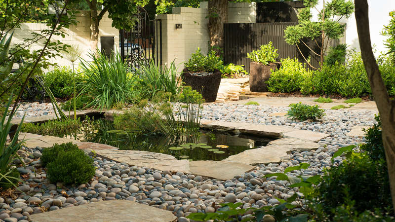 small outdoor pond