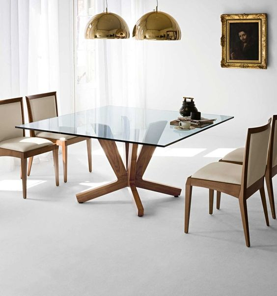 30 ways to incorporate a glass dining table into your for Dining table design modern