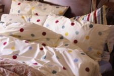 07 colorful polka dot printed bedding to add a cheery summer touch
