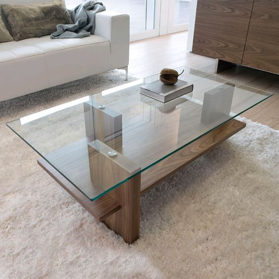 Modern Wood Coffee Table: 29 Chic Glass Coffee Tables That Catch An Eye