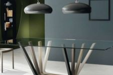09 unique dining table with ombre wooden legs for a creative modern look