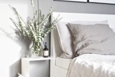 10 a white curved metal shelf looks super airy and light
