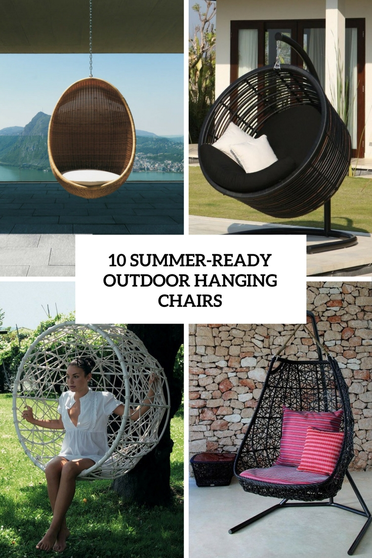 10 Summer-Ready Outdoor Hanging Chairs