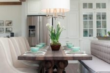 upholstered chairs for a kitchen