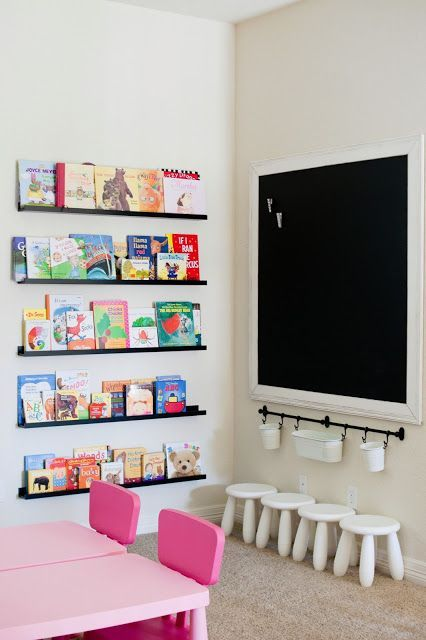 use ledges for book storage - such a solution looks airy and light