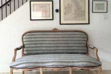 16 an entryway will be more refined with an exquisite striped sofa