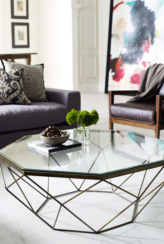29 chic glass coffee tables that catch an eye digsdigs Glass coffee table decor