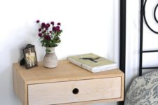 19 a cute wooden nightstand with a drawer is a great solution for many spaces