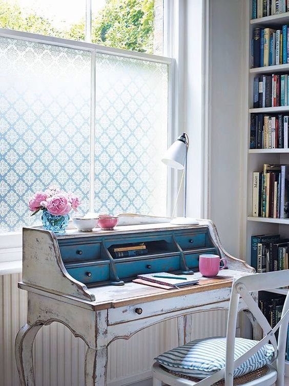 a whitewashed shabby chic bureau can be a chic statement for a rustic home office and will add a refined touch