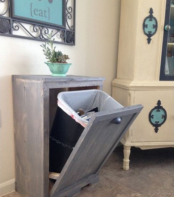 Kitchen Impressive Tilt Out Kitchen Trash Can Cabinet: 29 Sneaky Ways To Hide A Trash Can In Your Kitchen