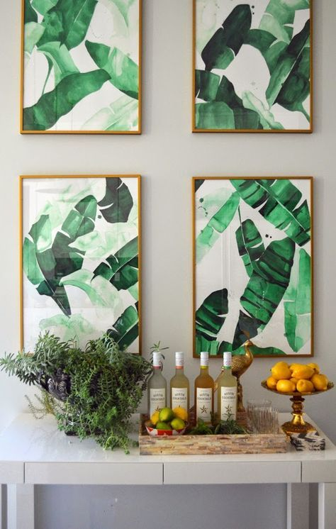 framed banana leaf posters can be printed out by you and hung wherver you want