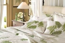 24 a fern leaf bedding set screams spring or summer, and textures inspire
