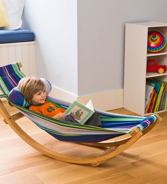 a rocking hammock lounger is a colorful and fun piece, which is great for any kid