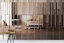 24 mirror panel wall looks very eye-catching and it's a unique idea for a statement wall