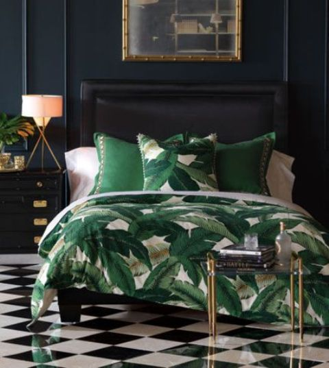 a banana leaf print is amazing for adding a summer or tropical cheer to the space