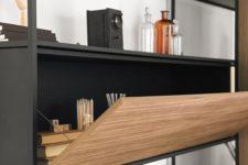 26 a bureau that becomes a comfortable desk features effective storage