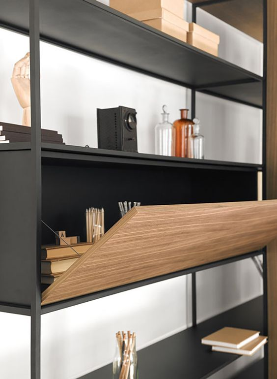 a bureau that becomes a comfortable desk features effective storage