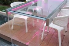 spectacular outdoor dining table