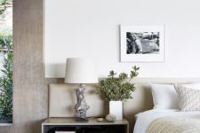 27 a textural large floating nightstand with open storage and two drawers