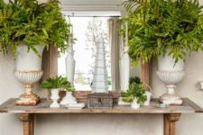 27 a trestle table used as a console in a shabby chic entryway – such a cozy and comfy in using piece