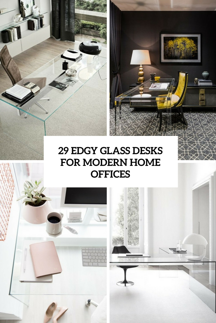 29 edgy glass desks for modern home offices - Modern Home Office Glass Desk